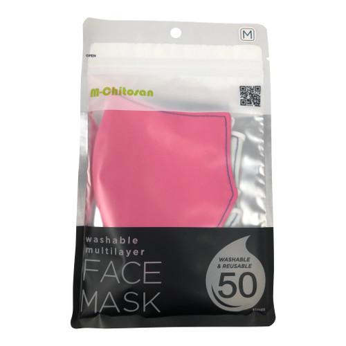M Chitosan Pink Antibacterial Face Mask