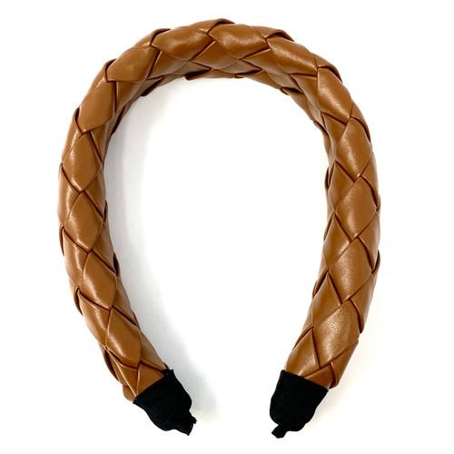 Shashi Braided Vegan Leather Headband