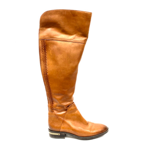 Vince Camuto Leather Pedra Over The Knee Boots - Thumbnail
