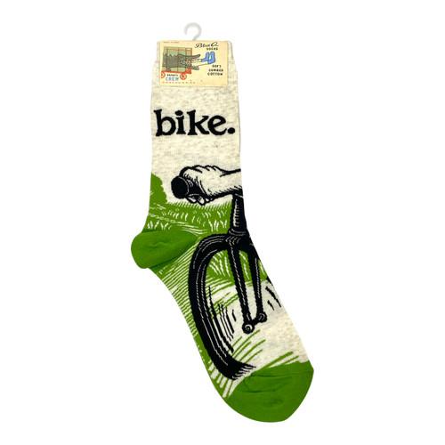 Blue Q Bike Novelty Socks- Front