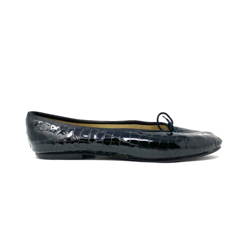 French Sole New York Croc Embossed Ballet Flats- Right