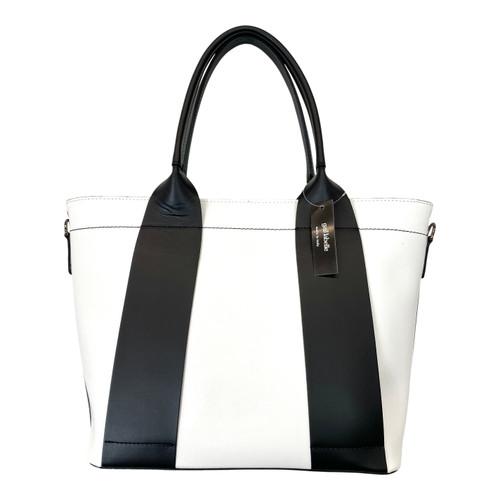 Gail Labelle Colorblock Leather Handbag- Front