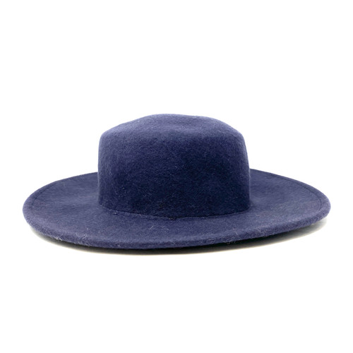 The Accessory Collective Navy Wide Brimmed Hat- Front
