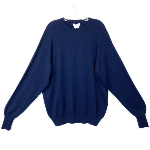 John Laing Navy Cashmere Sweater- Front