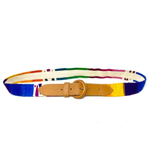 Multicolor Textile Belt- Front