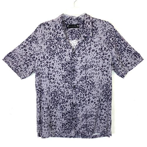 AllSaints Printed Short Sleeve Shirt- Front