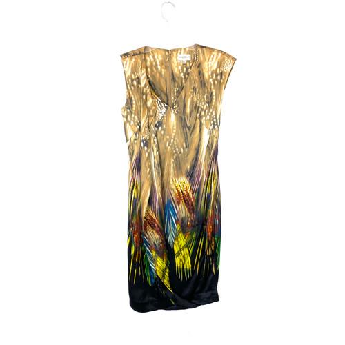 Karen Millen Printed Draped Front Dress- Thumbnail