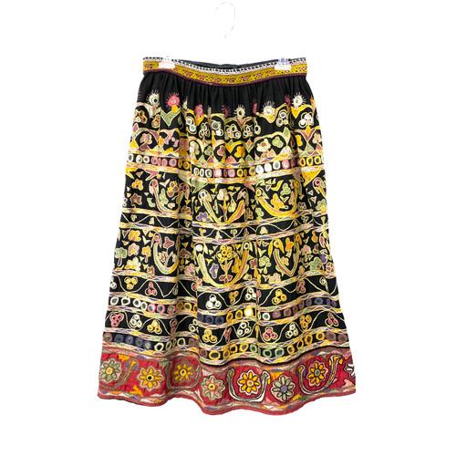 Vintage Mirror Embroidered Skirt- Thumbnail