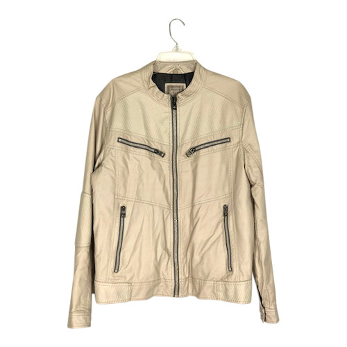 Guess Collarless Motorcycle Jacket- Front
