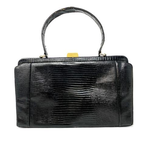 Vintage Mam'Selle Embossed Leather Bag- Front