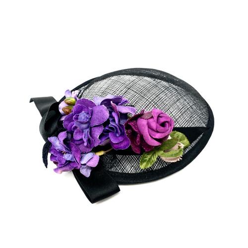 Vintage Floral Net Hat - Thumbnail