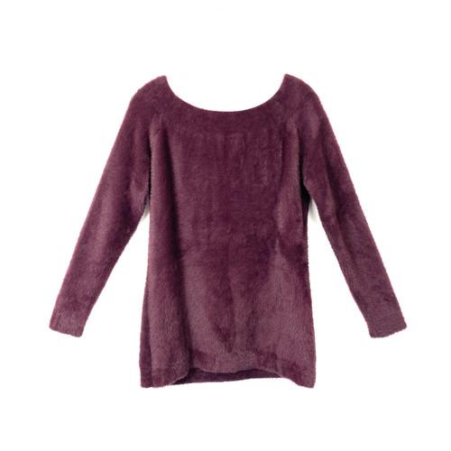 Love Token Fuzzy Knit Sweater - Thumbnail