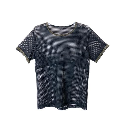 Koral Marsala Stretch Mesh T-Shirt -