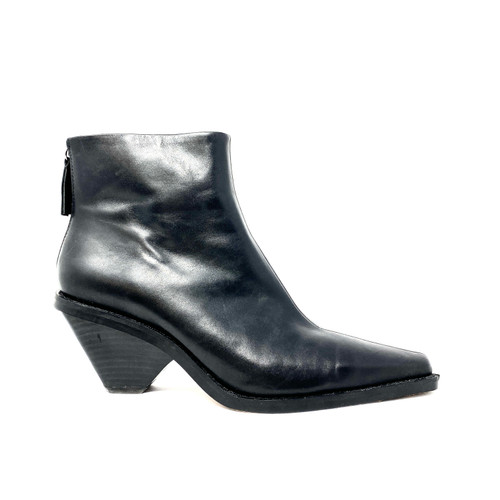Zara Leather Ankle Boots - Thumbnail