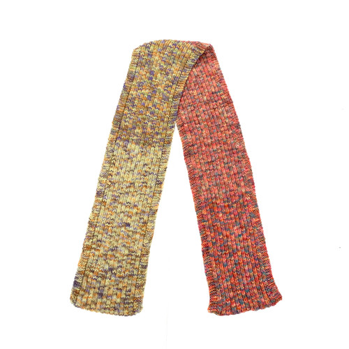 Multicolor Cable Knit Scarf- Thumbnail