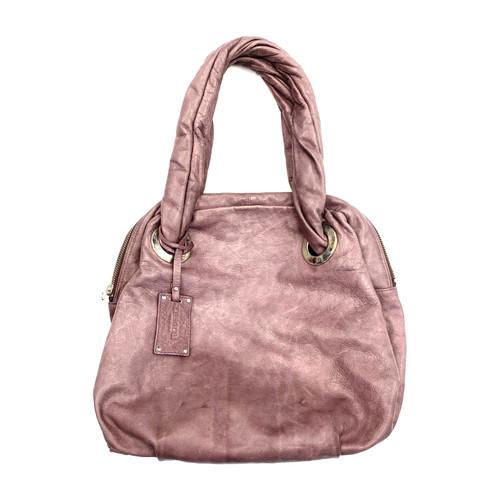 Le Solim Lavender Leather Purse- Front