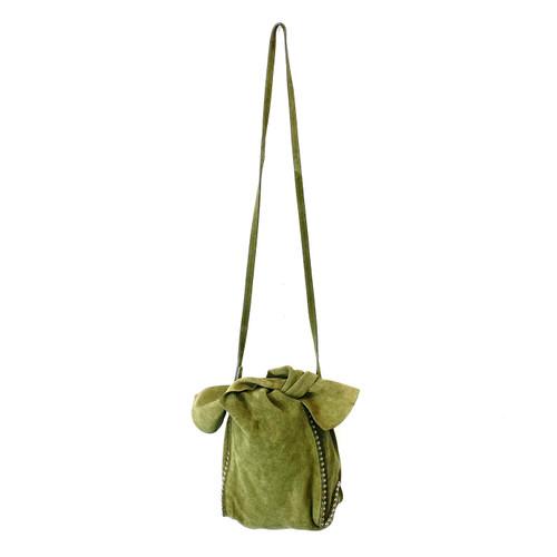 Zara Olive Suede Shoulder Bag- Thumbnail