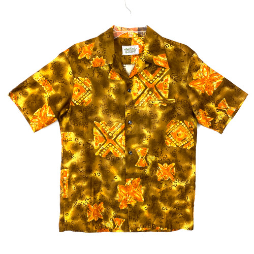 Vintage Malihini Hawaii Printed Button Down- Front