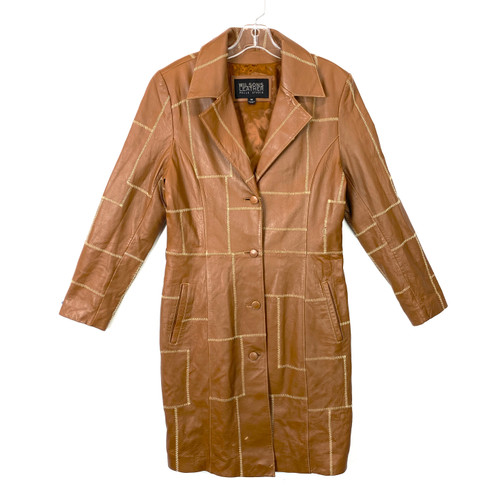 Wilsons Leather Patchwork Coat- Front
