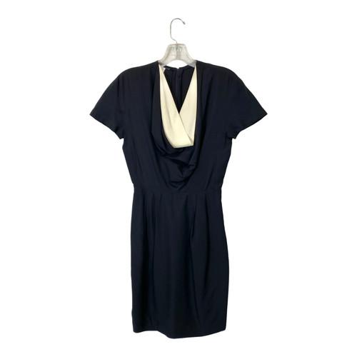 Vintage Cowl Neck Knee Length Dress- Front