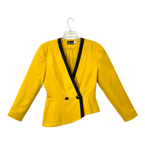 Vintage Kishi Asymmetrical Tailored Blazer- Front