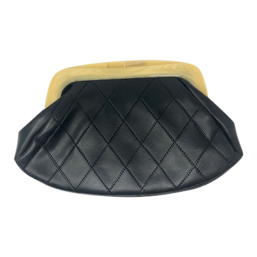 Vintage Quilted Clutch- Front
