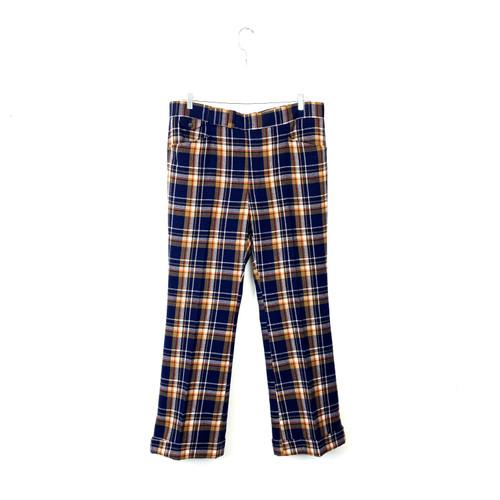 Vintage Winter Wool Tartan Trousers- Front