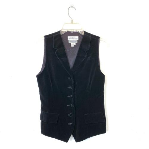 Vintage Saks Fifth Avenue Velvet Vest- Front