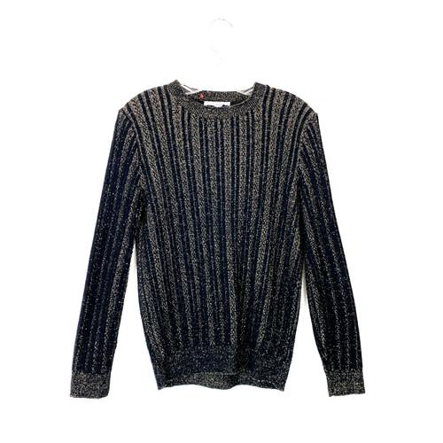 Vintage Metallic Stripe Pullover- Front