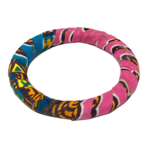 Fabric Wrapped Bangle- Front