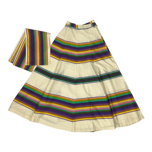 Vintage Southwest Striped Skirt- Thumbnail