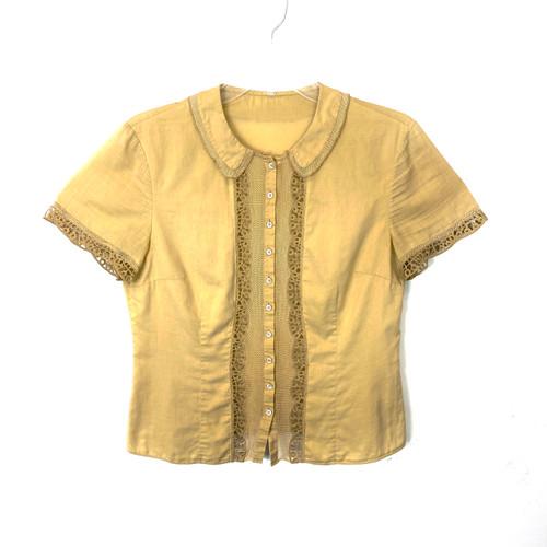 Vintage 40's Peter Pan Collar Blouse- Front