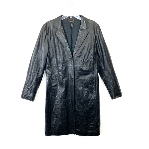 Vintage 90's Kenneth Cole Leather Trench- Front