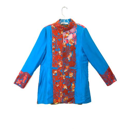 Vintage Ravage Reversible Embroidered Silk Jacket- Front