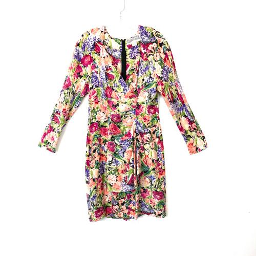 Vintage Pat Argenti Floral Silk Dress- Front