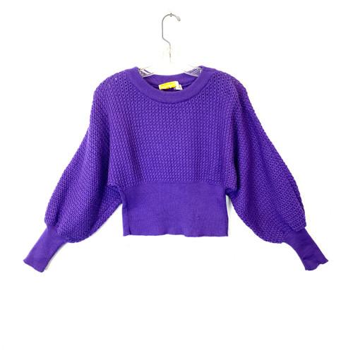 Vintage Sabra Cropped Crochet Jumper- Thumbnail