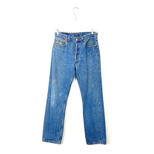 Vintage Levi's 501 Light Wash Jeans- Front