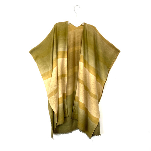 Neutral Striped Shawl- Front