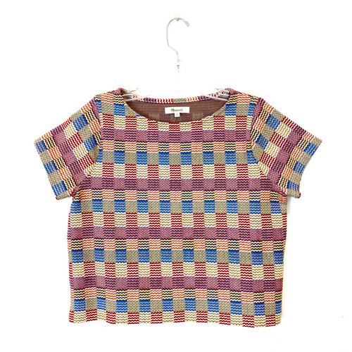 Madewell Jacquard Knit T-Shirt- Front