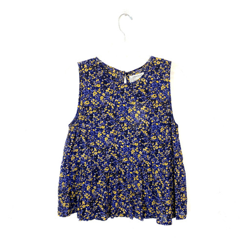 Current/Elliott Floral Sleeveless Top- Front
