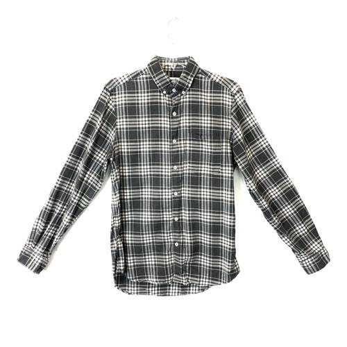 Steven Alan Plaid Single Needle Shirt- Front