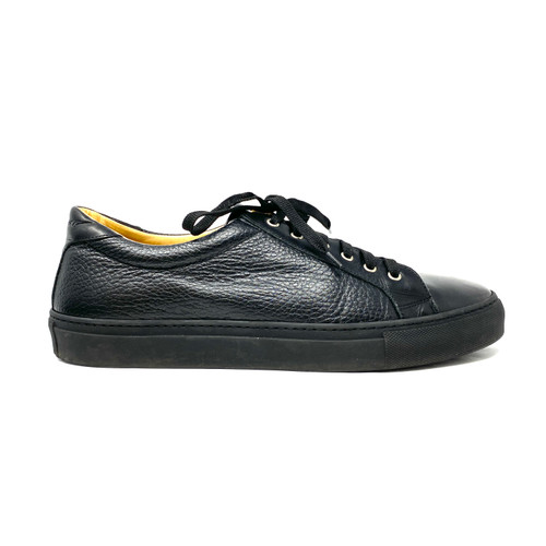Gold & Gravy Pebble Leather Sneakers- Right