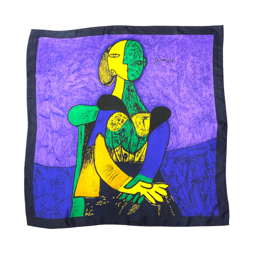 Pablo Picasso Femme Assise Scarf- Front