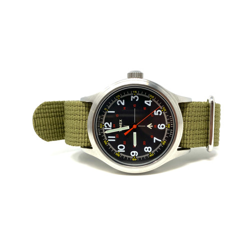 Todd Snyder For Timex Olive Strap Watch- Front