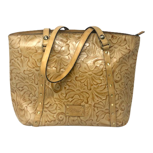 Patricia Nash Embossed Hibiscus Carry All- Front