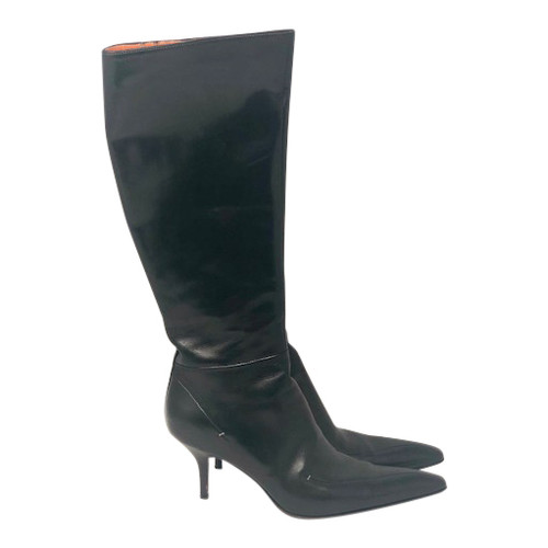 Santoni Stiletto Knee High Boots- Side