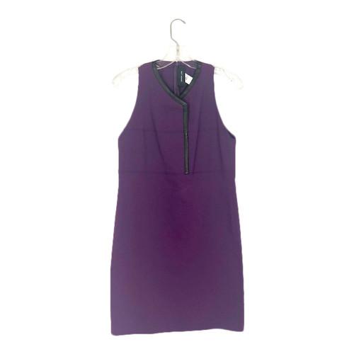 Derek Lam 10 Crosby Leather Trim Tailored Sheath Dress-Front