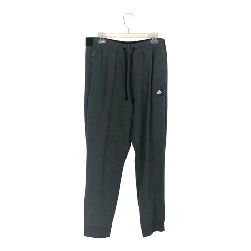 Adidas Logo Patch Ankle Zip Joggers-Front