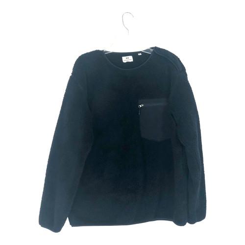 Uniqlo Pullover Teddy Fleece Sweatshirt- Front