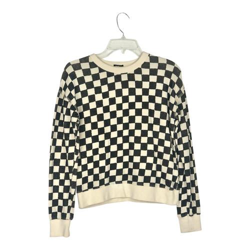 Mother Denim Checkerboard Sweatshirt- Front